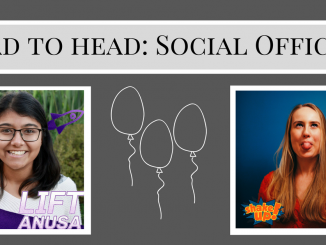 "Pictures of Segaram and Bonan, with ""Head to Head Social Officers"" at the top"