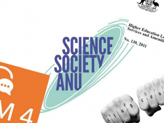 The Science Society and Clubs Council logos, alongside the OGM 4 banner and the SSAF legislation heading