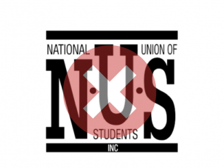 The NUS logo with crosses over it