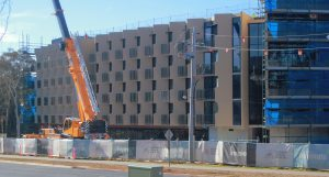 New Bruce Hall from Clunies Ross St
