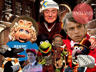 """A Muppets Christmas Carol"" edited with relevant motifs"