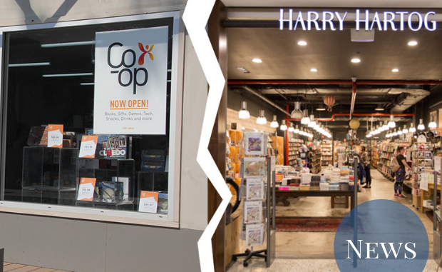 The Co-op and a Harry Hartog store