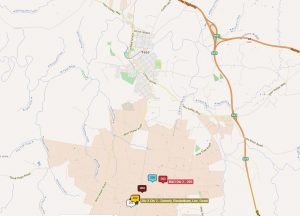 A map showing teams near Yass