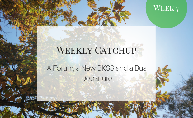 A forum, a new BKSS, and a bus departure