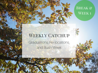 Graduations, Relocations, and Bush Week