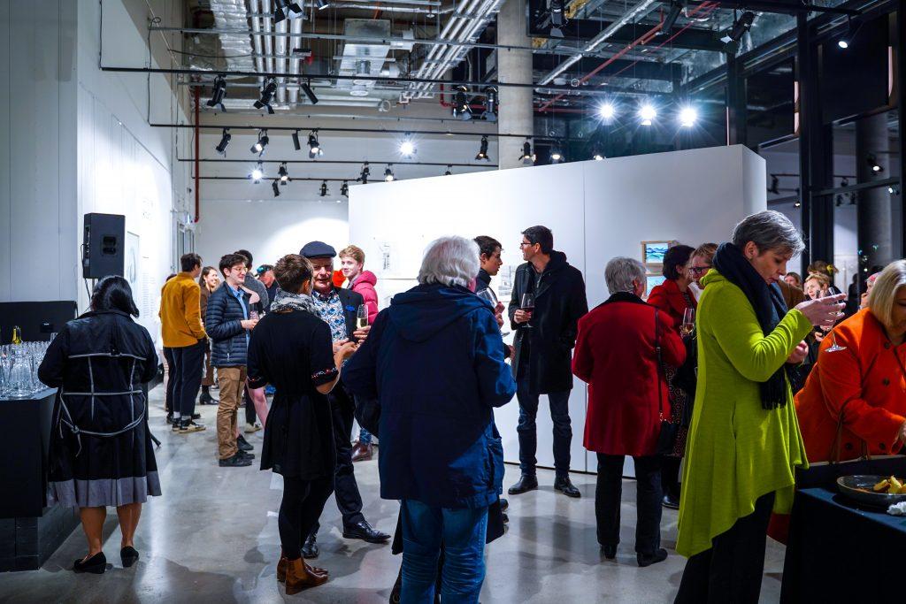 The crowd at aMBUSH Gallery