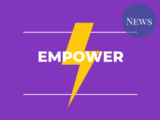 Image of the Empower campaign logo, a lightning bolt