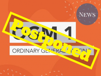 The OGM 1 graphic with a 'postponed' stamp