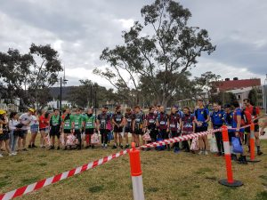 All Div 1 runners lined up