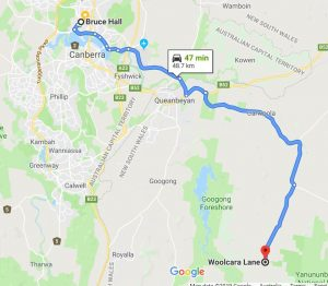Google Maps directions to Woolcara